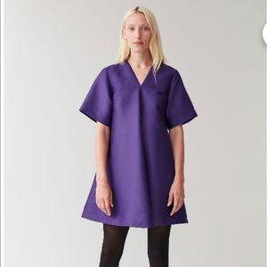 COS Smooth A-line Dress- Purple Sz 12 New w/o tags